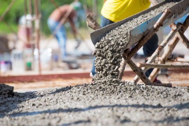 concrete forms - pouring concrete