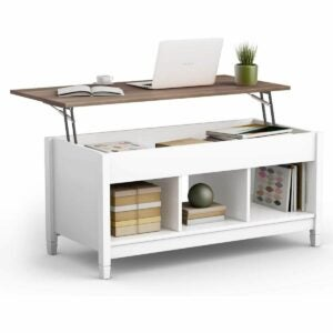 The Prime Day Furniture Deals Option: TANGKULA Wood Lift Top Coffee Table
