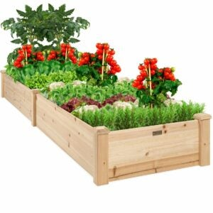 The Walmart Amazon Prime Day Deals Option: Best Choice Products Wooden Raised Garden Bed Planter