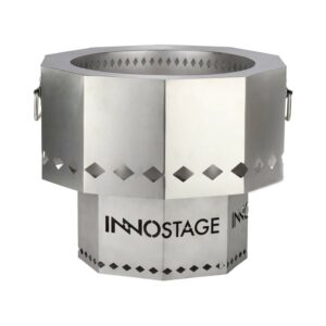 Best Smokeless Fire Pit Option: INNO STAGE Patented Stainless Bonfire Fire Pit