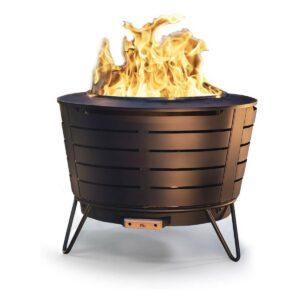 Best Smokeless Fire Pit Option: TIKI Brand 25 Inch Stainless Steel Low Smoke Fire Pit