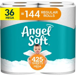 Best Toilet Paper For Septic Option: Angel Soft Toilet Paper