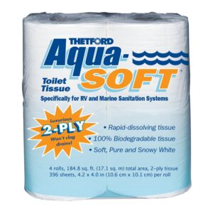 Best Toilet Paper For Septic Option: Aqua-Soft Toilet Tissue - Paper for RV and marine