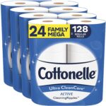 Best Toilet Paper For Septic Option: Cottonelle Ultra CleanCare Soft Toilet Paper