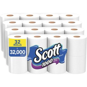 Best Toilet Paper For Septic Option: Scott 1000 Sheets Per Roll Toilet Paper