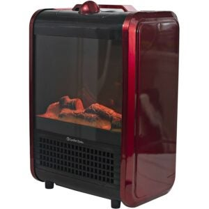Electric Fireplace Heater Option: Comfort Zone CZFP1 Portable Fireplace Heater