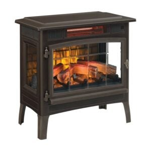 Electric Fireplace Heater Option: Duraflame 3D Infrared Electric Fireplace Stove