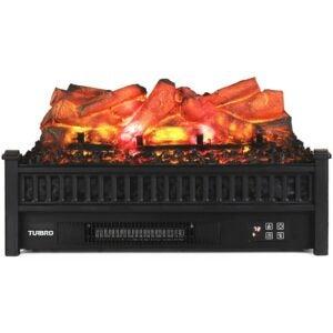 Electric Fireplace Heater Option: TURBRO Eternal Flame EF23-LG Electric Fireplace Logs