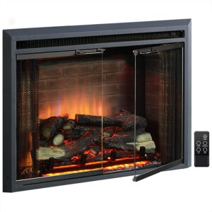 Electric Fireplace Heater Option: PuraFlame Klaus Electric Fireplace Insert