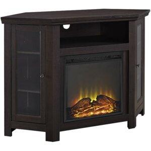 Electric Fireplace Heater Option: Walker Edison Alcott Classic Glass Door Fireplace