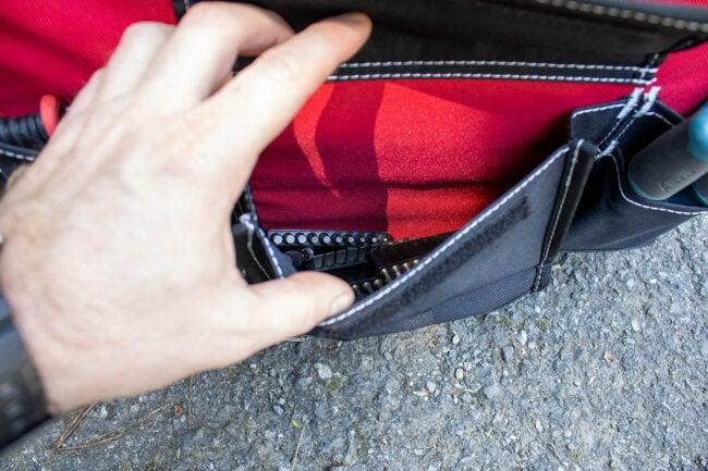 Husky Tool Bag Opens Easily