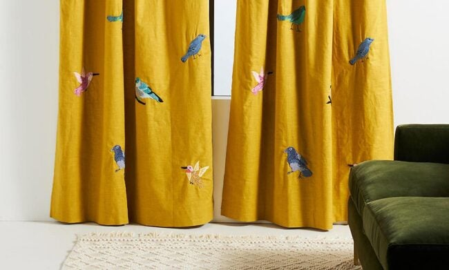 The Best Places to Buy Curtains Option: Anthropologie