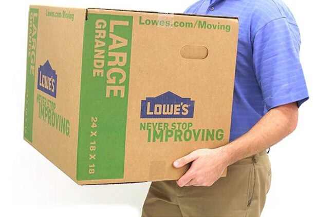 The Best Places to Buy Moving Boxes Option: Lowe's