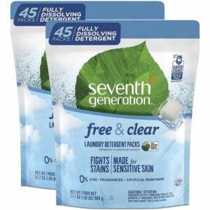 The Best Hypoallergenic Laundry Detergent Option: Seventh Generation Laundry Detergent Packs