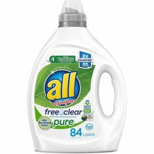 The Best Hypoallergenic Laundry Detergent Option: all Liquid Laundry Detergent, Free Clear Pure