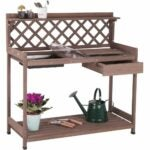 The Best Potting Benches Option: Aivituvin Potting Bench with PVC Layer, Outdoor