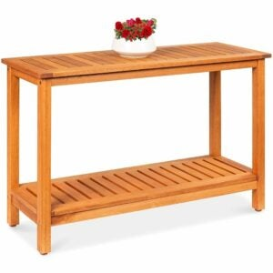 The Best Potting Benches Option: Best Choice Products 48in 2-Shelf Eucalyptus Wood