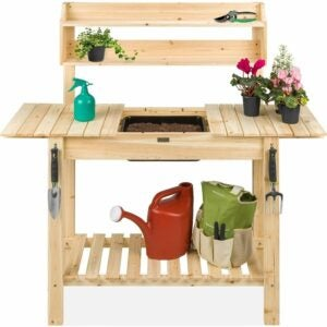 The Best Potting Benches Option: Best Choice Products Outdoor Mobile Garden Potting