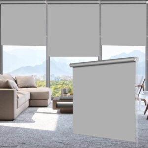 The Best Roller Shades Option: LUCKUP 100% Blackout Waterproof Roller Shades