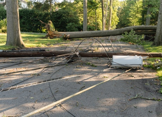 generator shortage downed wires