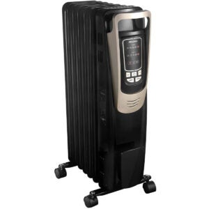 Best Energy Efficient Space Heater Option: PELONIS Oil Filled Radiator Heater Luxurious Champagne Portable Space Heater