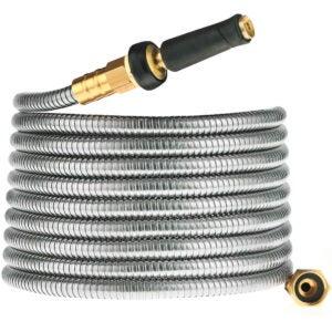 Best Garden Hose Option: Cromtac Stainless steel 304 garden hose
