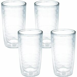 The Best Plastic Drinking Glasses Option: Tervis Clear & Colorful Insulated Tumbler