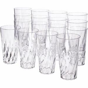 The Best Plastic Drinking Glasses Option: US Acrylic Palmetto 20-ounce Clear Plastic Tumblers