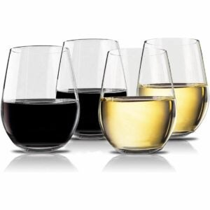 The Best Plastic Drinking Glasses Option: Vivocci Unbreakable Elegant Plastic Wine Glasses