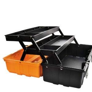 Best Portable Tool Box Options: GANCHUN 17-Inch Three-Layer Plastic Storage Box