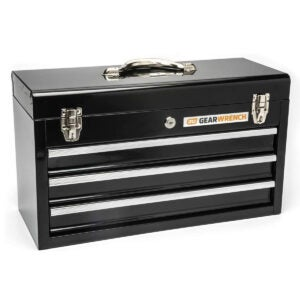 Best Portable Tool Box Options: GEARWRENCH 20inch 3 Drawer Steel Tool Box