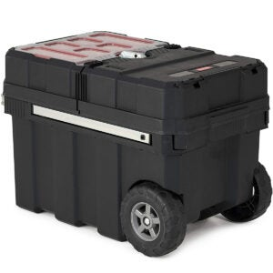 Best Portable Tool Box Options: Keter - 241008 Masterloader Resin Rolling Tool Box