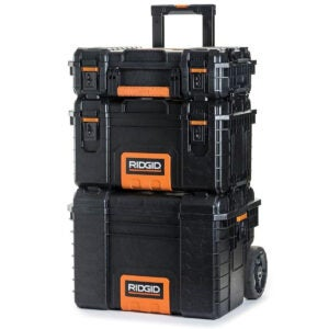 Best Portable Tool Box Options: RIDGID Professional Tool Storage Cart And Organizer Stack