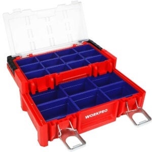 Best Portable Tool Box Options: WORKPRO 17-inch Plastic Tool Box