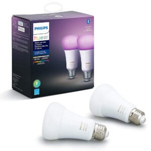 Best Smart Home Devices Option: Philips Hue White and Color Ambiance LED Smart Bulb