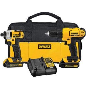 Best Tools Option: DEWALT 20V Max Cordless Drill Combo Kit