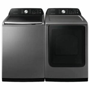 The Black Fiiday Appliance Deals Option: Samsung Impeller Top-Load Washer & Gas Dryer Set
