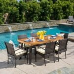 The Black Friday Furniture Deals Option: Bayou Breeze Hoff 6-Person Dining Set with Cushions
