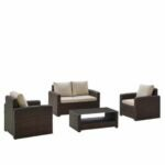 The Black Friday Furniture Deals Option: Raymour & Flanigan Wicker & Teak 4-pc. Outdoor Set