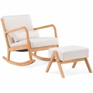 The Black Friday Furniture Deals Option: YOLENY Fabric Rocking Chair