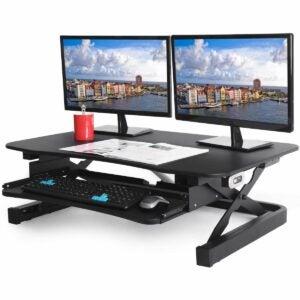 The Best Home Office Gifts Option: ApexDesk EDR-3612-BLACK ZT Series Desk Converter
