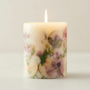 The Best Hostess Gifts Option: Pressed Botanicals Candle, Lemon + Lychee