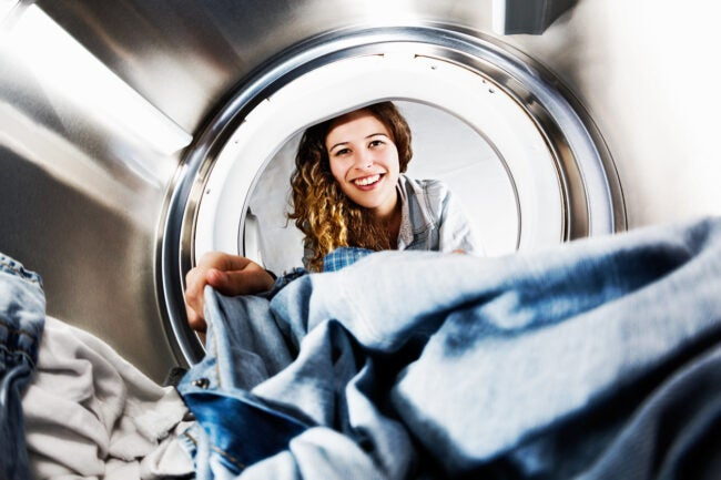 how to wash polyester