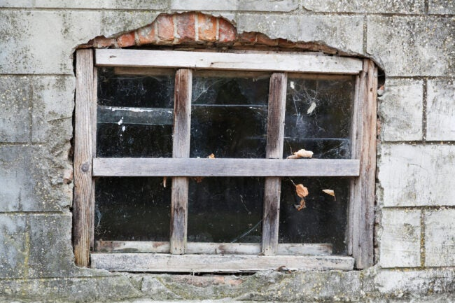 cracked basement window structural damage