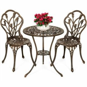 The Outdoor Dining Set Option: Best Choice Products 3-Piece Patio Bistro Set