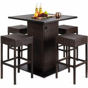 The Outdoor Dining Set Option: Best Choice Products 5-Piece Wicker Bar Table Set