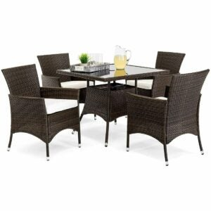 The Outdoor Dining Set Option: Best Choice Products 5-Piece Wicker Dining Set