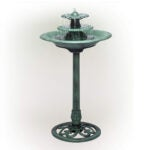 Outdoor Water Fountains Option: Alpine Corporation TEC106 Tiered Classic Fountain