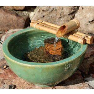 Outdoor Water Fountains Option: Bamboo Accents Water Fountain for Yard
