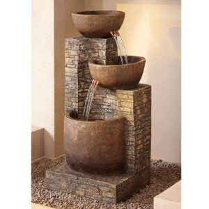 Outdoor Water Fountains Option: John Timberland Mason Outdoor Floor Water Fountain